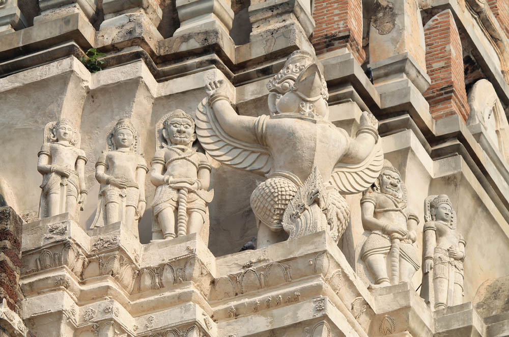 Garuda of Wat Ratchaburana - Ayutthaya vs Sukhothai - Best Ancient Ruins in Thailand