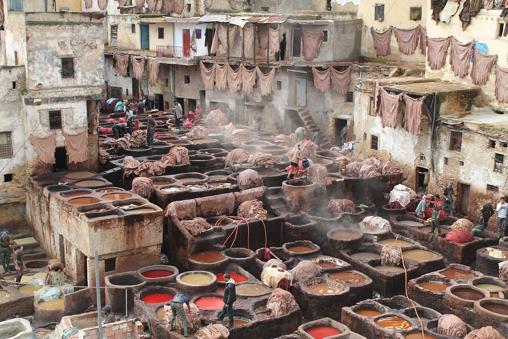 Tannery in Fez - One of the Awesome Things to Do in Morocco