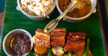 Kare Kare with Lechon Macau - Lunch - Must Try Filipino Foods - How to Eat Like a Local in the Philippines