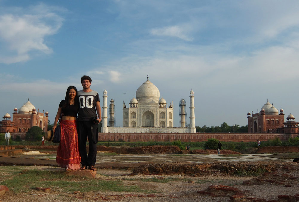 Couple at Taj Mahal - Exploring the Wonder of the World, Taj Mahal