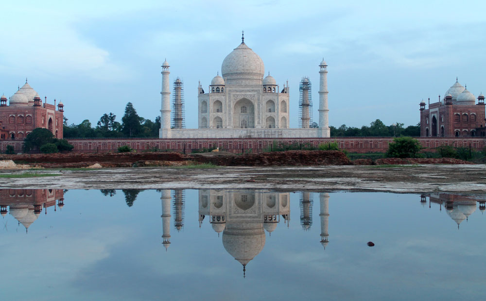 Reflection Photos of the Taj Mahal form Mehtab Bagh -Exploring the Wonder of the World, Taj Mahal