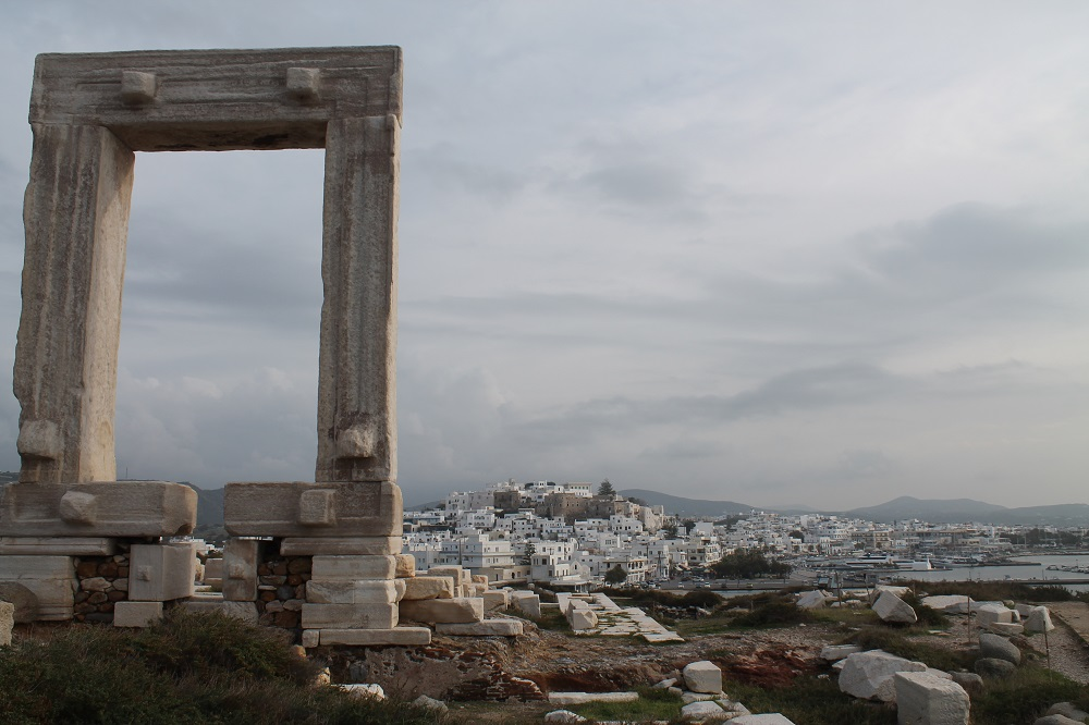 Portara the Gate in Naxos Greece - Two Weeks in the Greek Islands Itinerary: Island Hopping in Cyclades
