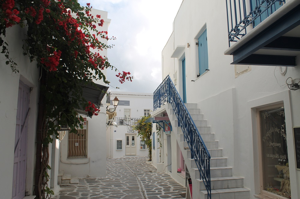 A Street in Paros, Greece - Two Weeks in the Greek Islands Itinerary: Island Hopping in Cyclades