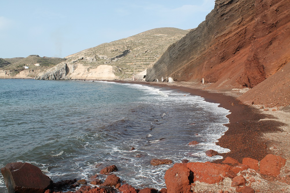 Red Beach in Santorini, Greece - Two Weeks in the Greek Islands Itinerary: Island Hopping in Cyclades