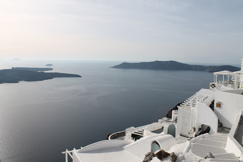 View of the Caldera in Santorini, Greece - Two Weeks in the Greek Islands Itinerary: Island Hopping in Cyclades