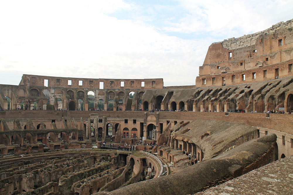 Incredible Things to Do in Rome Italy - The Colloseum Interior
