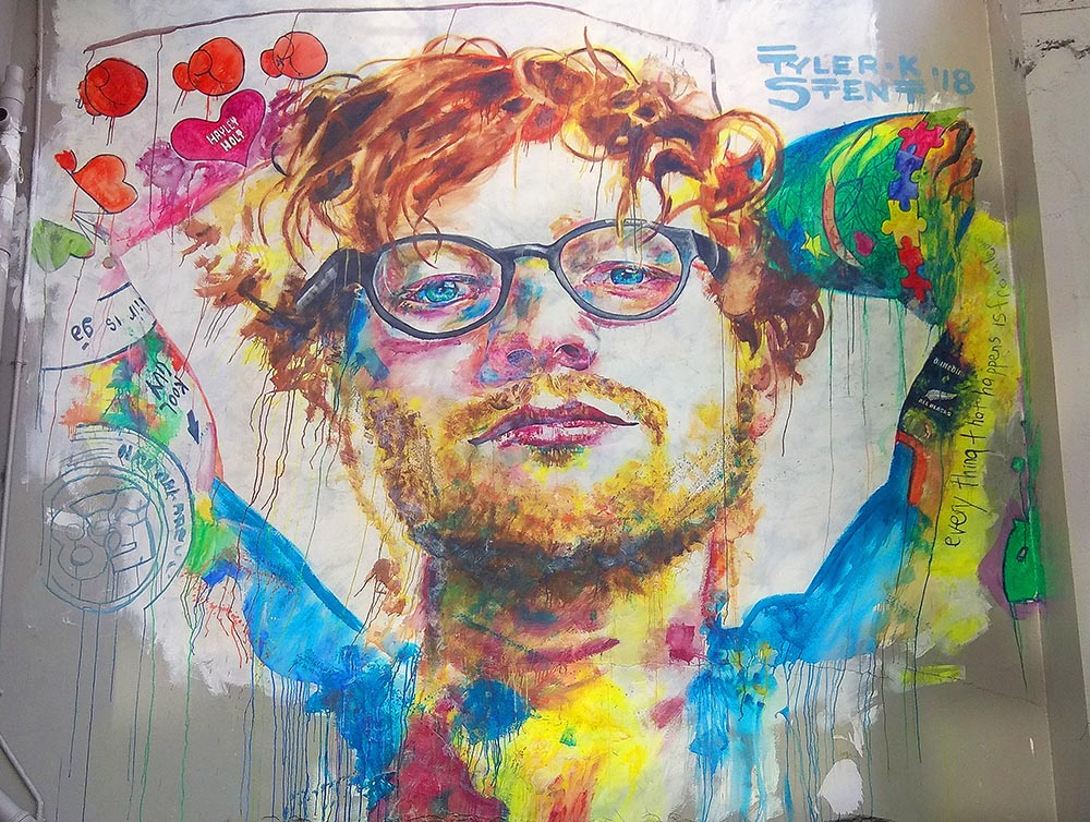 Dunedin Street Art Trail - Ed Sheeran Mural - Bath Street