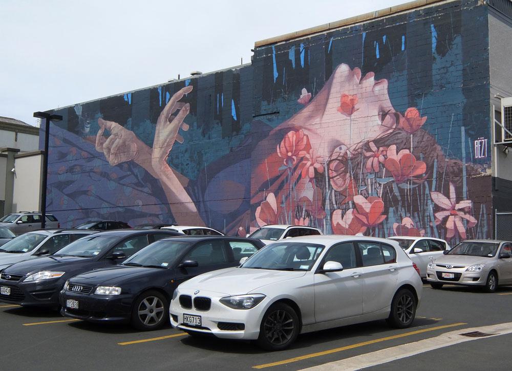 Dunedin Street Art Trail - New Zealand - Girl - Etam Cru