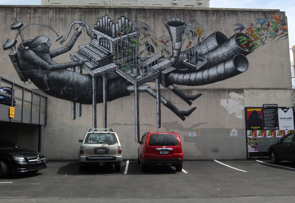 Dunedin Street Art Trail - New Zealand
