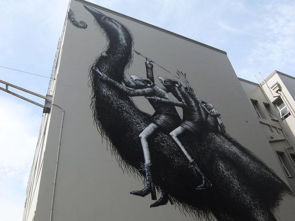 Dunedin Street Art Trail - New Zealand - Moa