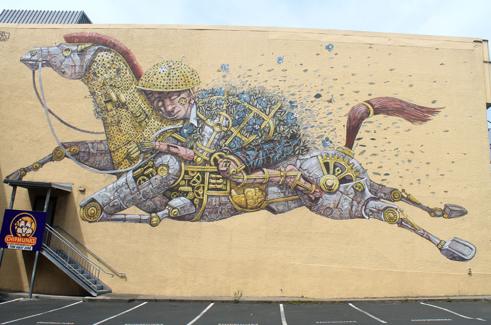 Dunedin Street Art Trail - New Zealand - Pixel Pancho - Riding Dreams