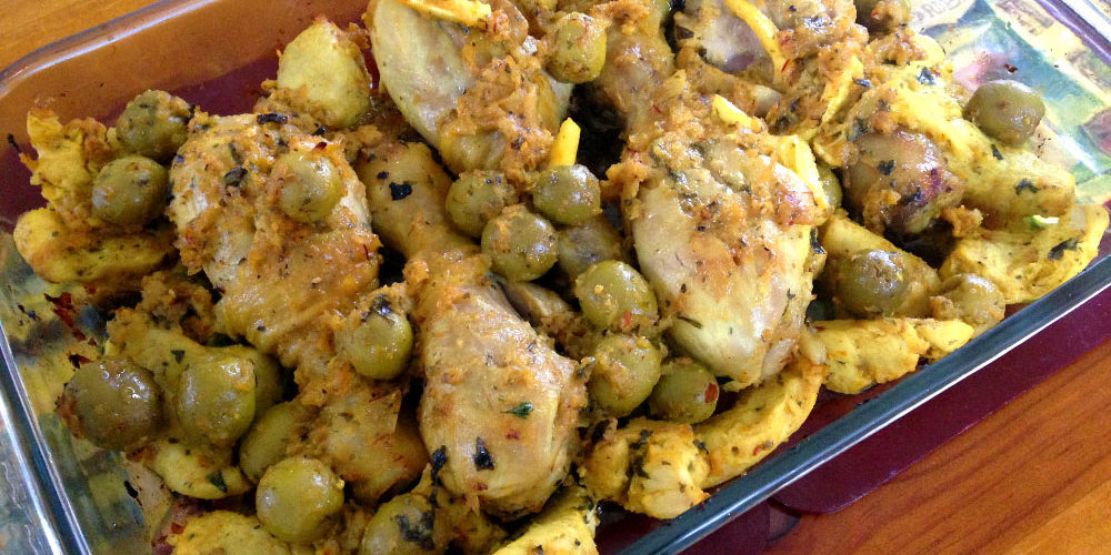 Moroccan Chicken Tagine with Fresh Lemons and Olives - Travel Inspired Recipe