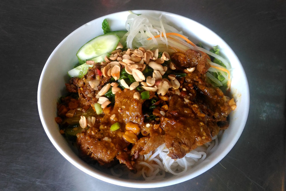 Bun Thit Nuong - Grilled Meat Noodles - Must Try Foods in Hoi An Vietnam