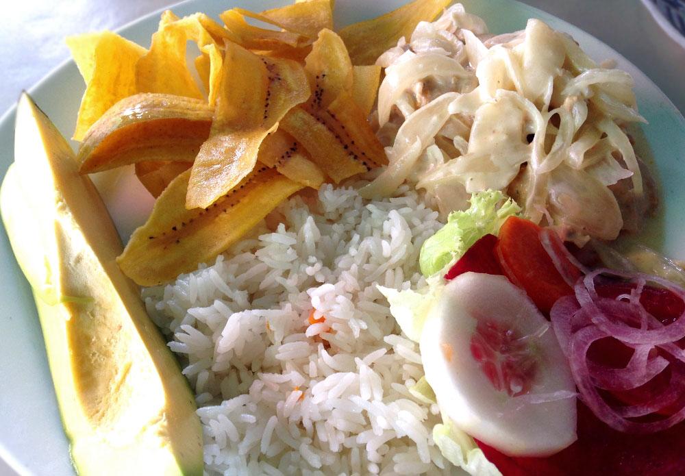 Nicaraguan Creole Chicken with Jalapeno Cream Sauce Recipe