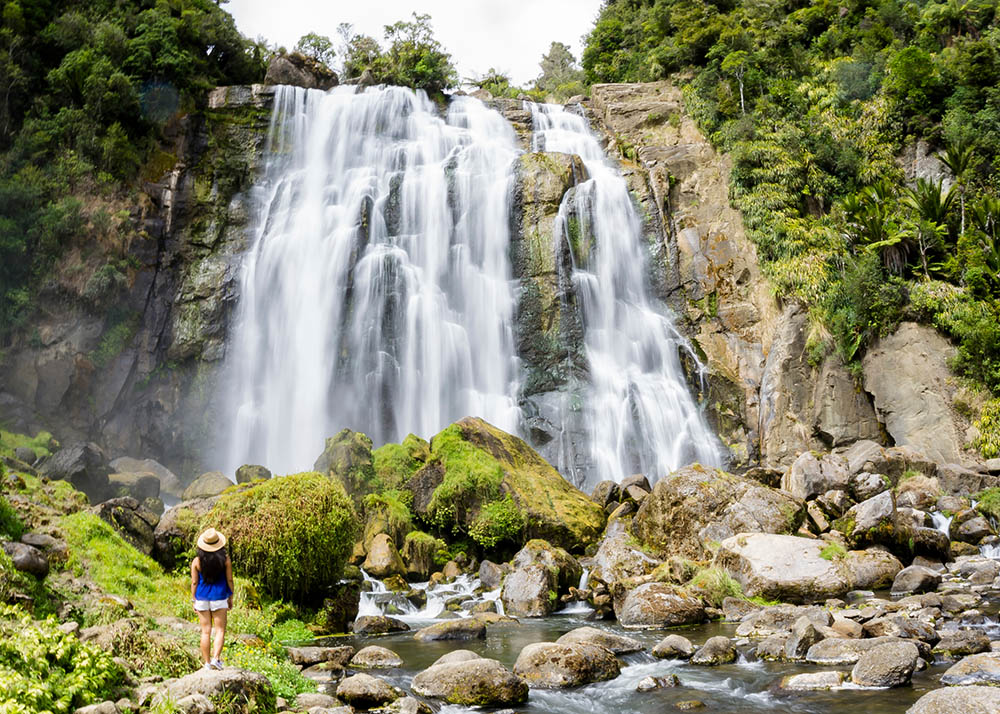 Marokopa Falls in Waitomo, New Zealand